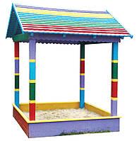 Песочница-Домик Ромашка детская деревянная
