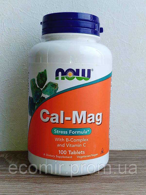Кальций Магний + B (Формула от стресса), Now Foods (100 таблеток)