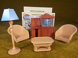 Аквариум + мебель, игрушечный набор для лол лпс (для куколок до 8 см)