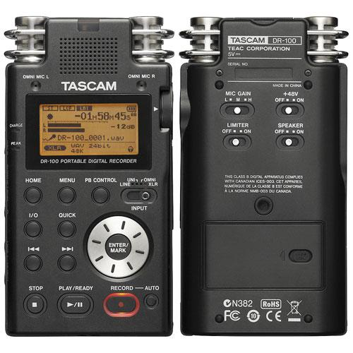Рекордер Tascam DR100