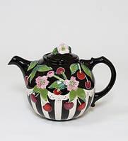 """Фарфоровый заварочный чайник """"Вишенки"""" (Pavone) BS- 43"""