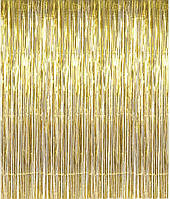 Шторка фольгированная для фотозоны, Цвет: Золото. Размер: 2м*1м.