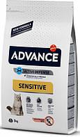 Сухой корм для кошек Advance Cat Sterilized Salmon Sensitive 3 кг. для стерилизованных котов и кошек