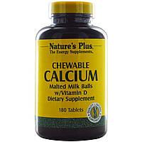 Жевательный кальций, Nature's Plus, 180 таблеток