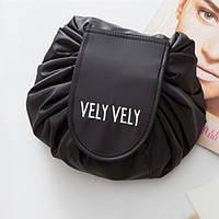 Косметичка мешок Vely Vely. Черный, фото 1