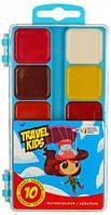 Краски акварельные ГАММА-Н Travel Kids 312044, 10 цветов, б/кист.