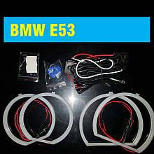 Ангельские глазки (2*127,5 + 2*158 мм) LED для BMW E53