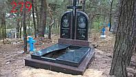 Памятник двойной из красного гранита