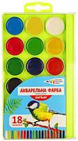 Краски акварельные ГАММА-Н Craft&Joy 312086, 18 цветов, б/кист.