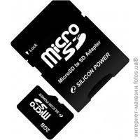 Карта памяти 4 Gb microSD с переходником SD