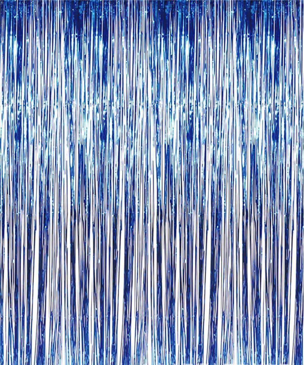 Шторка фольгированная для фотозоны, Цвет: Синий. Размер: 2м*1м.