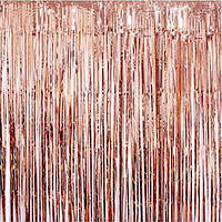 Шторка фольгированная для фотозоны, Цвет: Розовое золото. Размер: 2м*1м.