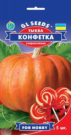 Тыква Конфетка, пакет 5 семян - Семена тыквы, фото 2