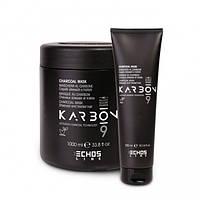 Маска для волос c активированным углем, страдающих от химических процедур - Echosline Charcoal (Оригинал)