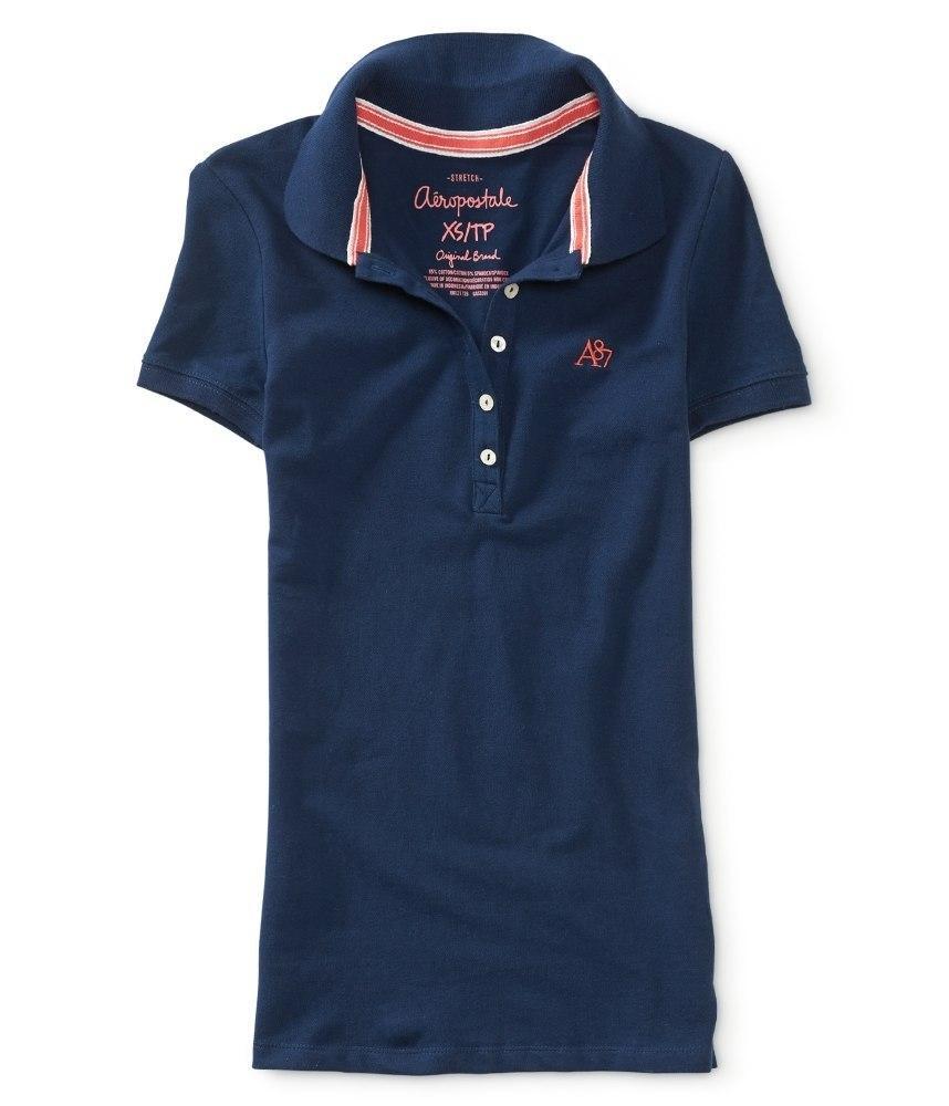 Женская футболка-поло Aeropostale тёмно-синяя