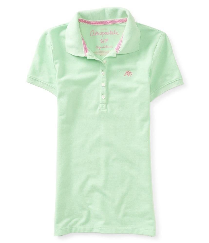 Женская футболка-поло Aeropostale нежно-салатовая