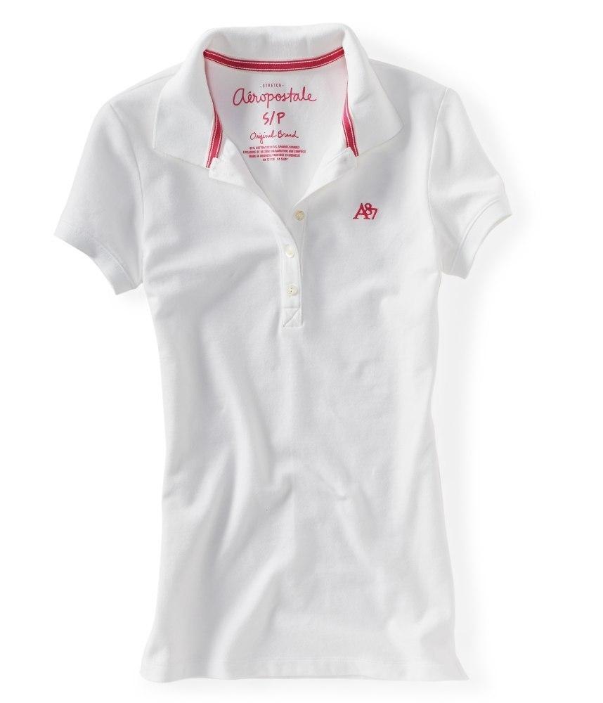 Женская футболка-поло Aeropostale белая