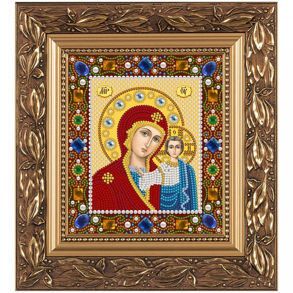 """Набір для вишивки ікон бісером і камінням 15х13см """"Богородиця Казанська"""""""