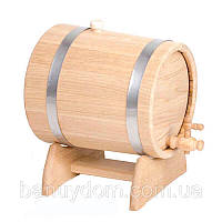 Жбан-бочка для вина и коньяка, 15 л ( нерж)
