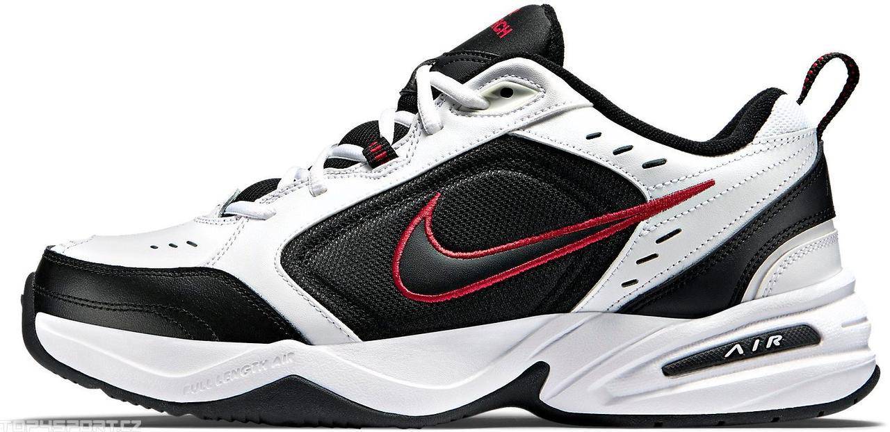 ca0d27df Мужские кроссовки Nike Air Monarch IV White Black (найк монарх 4,  белые/черные