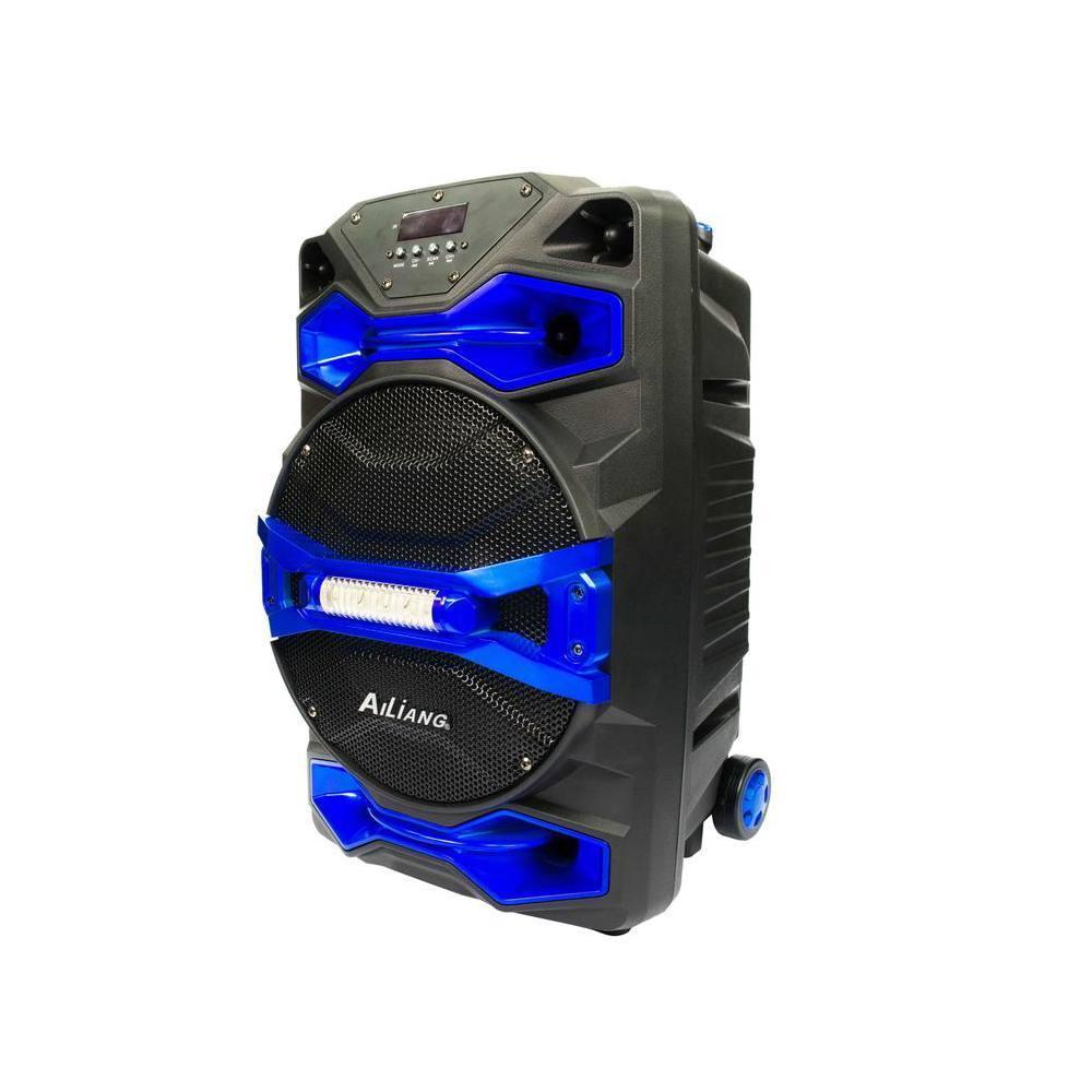 Аккумуляторная акустика Ailiang UF-1618AK-DT портативная колонка с микрофоном  + ПОДАРОК: Настенный Фонарик с