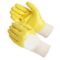 Перчатки нитриловые жёлтые