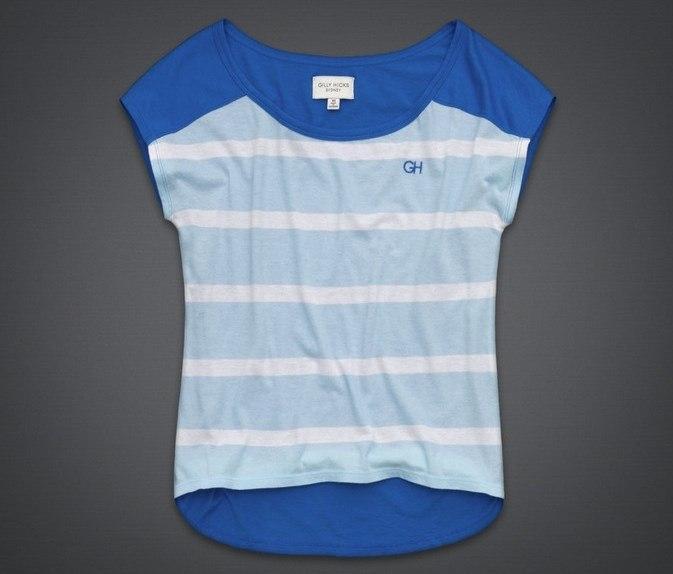 Женская футболка Gilly Hicks синяя в полоску