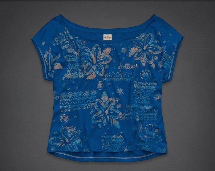 Женская футболка Hollister синяя