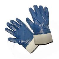 Перчатки нитрил утолщенные с жестким манжетом