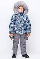 Зимний комбинезон для мальчика KM-1 Принт 16