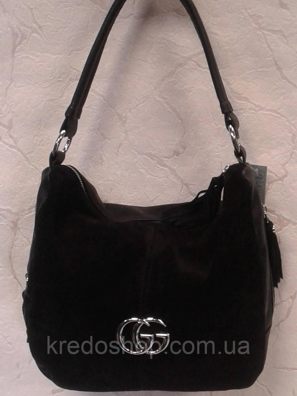 46d71289ec41 Сумка женская стильная замшевая черная - Интернет-магазин сумок и  аксессуаров