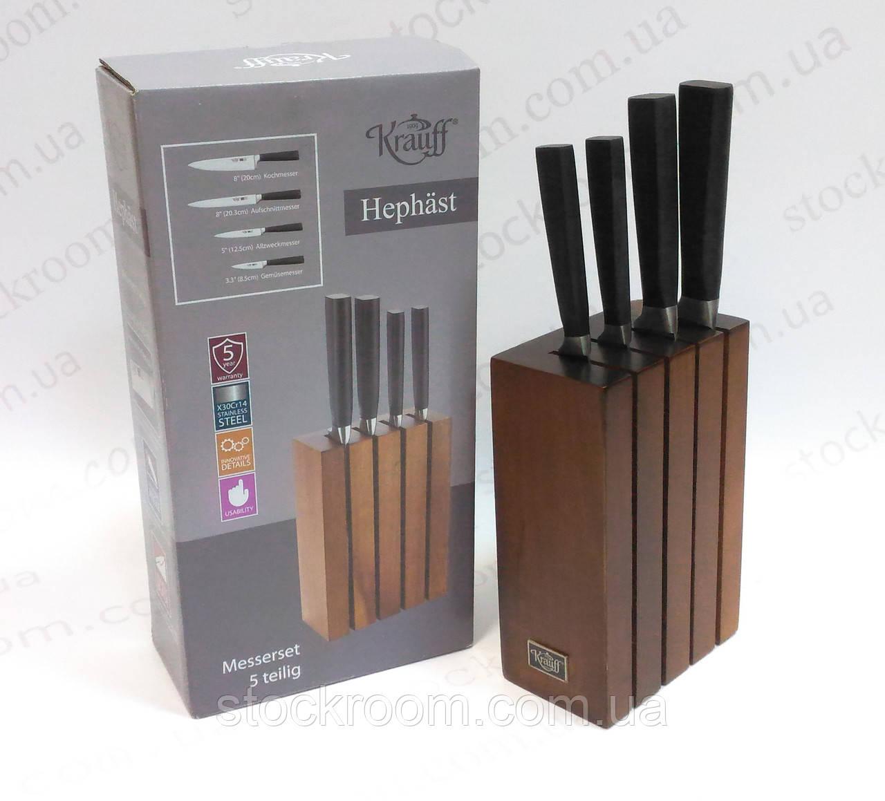 Набор ножей Krauff 29-243-029 с деревянной подставкой