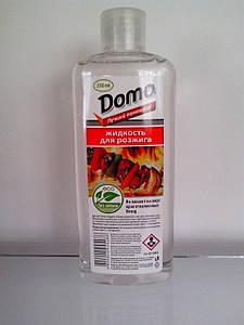 Жидкость для розжига (пластиковий флакон 250 мл) DOMO