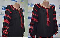 """Жіноча вишиванка """"Червоне на чорному"""", фото 1"""