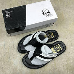 "Шлепанцы Adidas Stan Smith City ""Black/White"" Арт. 2843"
