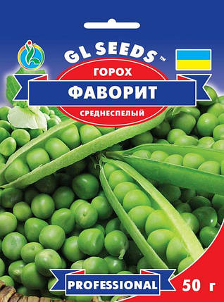 Горох Фаворит, пакет 50г - Семена гороха, фото 2