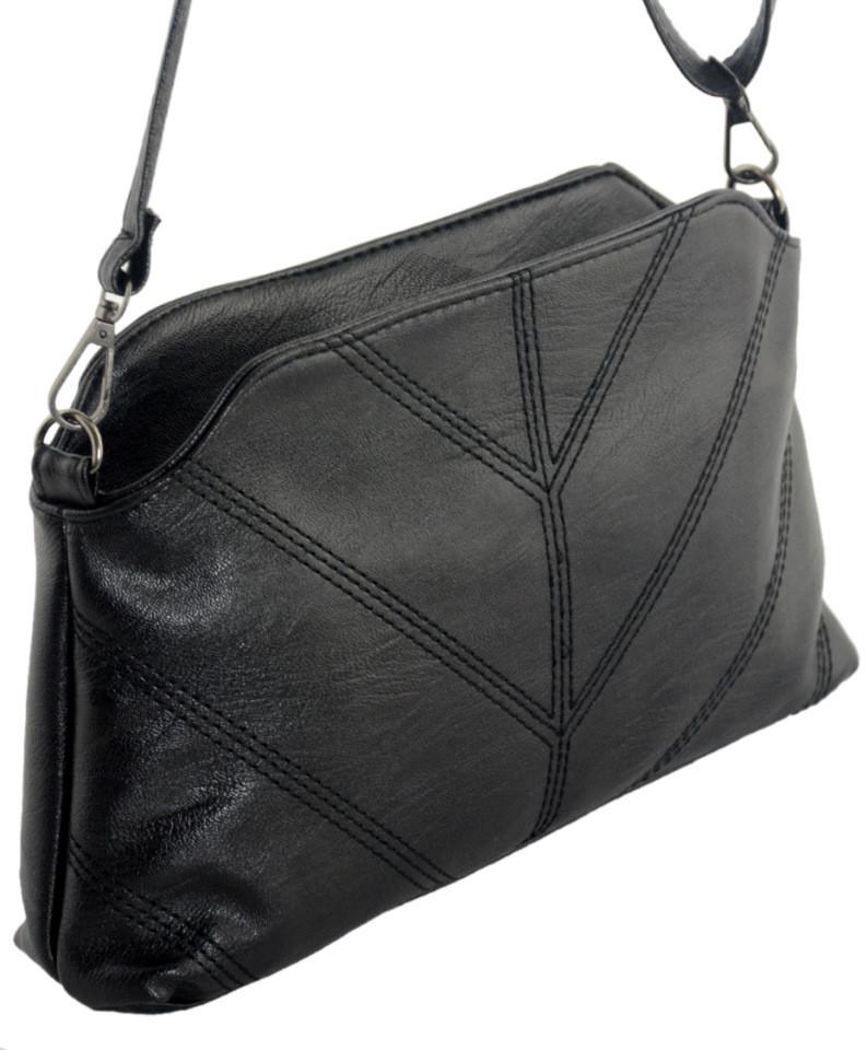 Женская сумка из PU кожи TRAUM 7220-37, черный