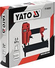 Степлер для скоб пневматичний 25-40х5.7мм YATO YT-09202, фото 2