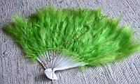 Веер с зеленым пухом