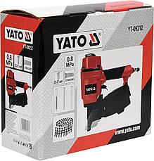 Пистолет гвоздезабивной пневматический барабанный для гвоздей 25-57х2.1-2.3мм YATO YT-09212, фото 3