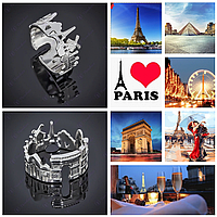 Серебряное кольцо Париж