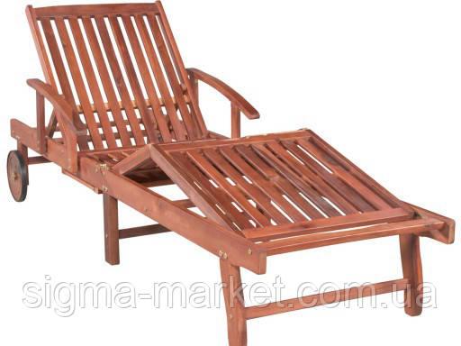 Садовый шезлонг деревянный акация 328