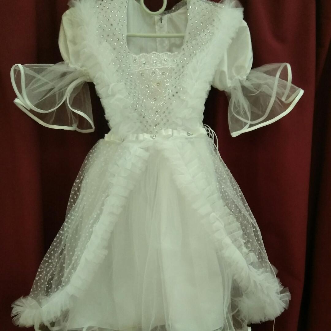 Белое нарядное платье на девочку 5 лет