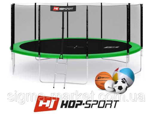 Батут Hop-Sport 16 FT (488 см) с внешней защитной сеткой