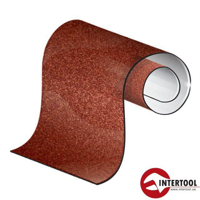 Шлифовальная шкурка на бумажной основе К80, 20cм*50м. Intertool BT-0818