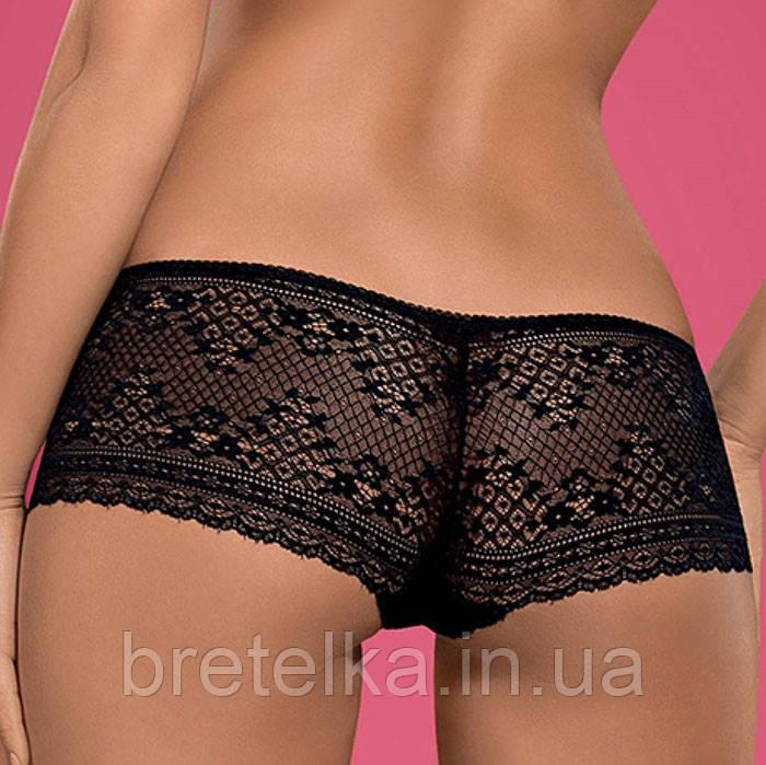 Трусы шорты женские кружевные черные Picantina Obsessive