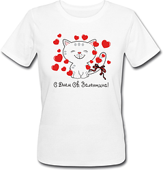 Женская футболка С Днём Св. Валентина!