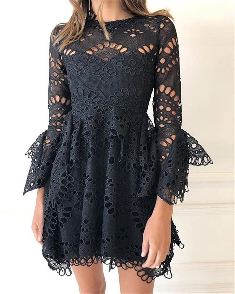 5ba6be50c34 Стильное сексуальное женское брендовое платье в черном цвете с оборками  мини - All best for you в Одессе