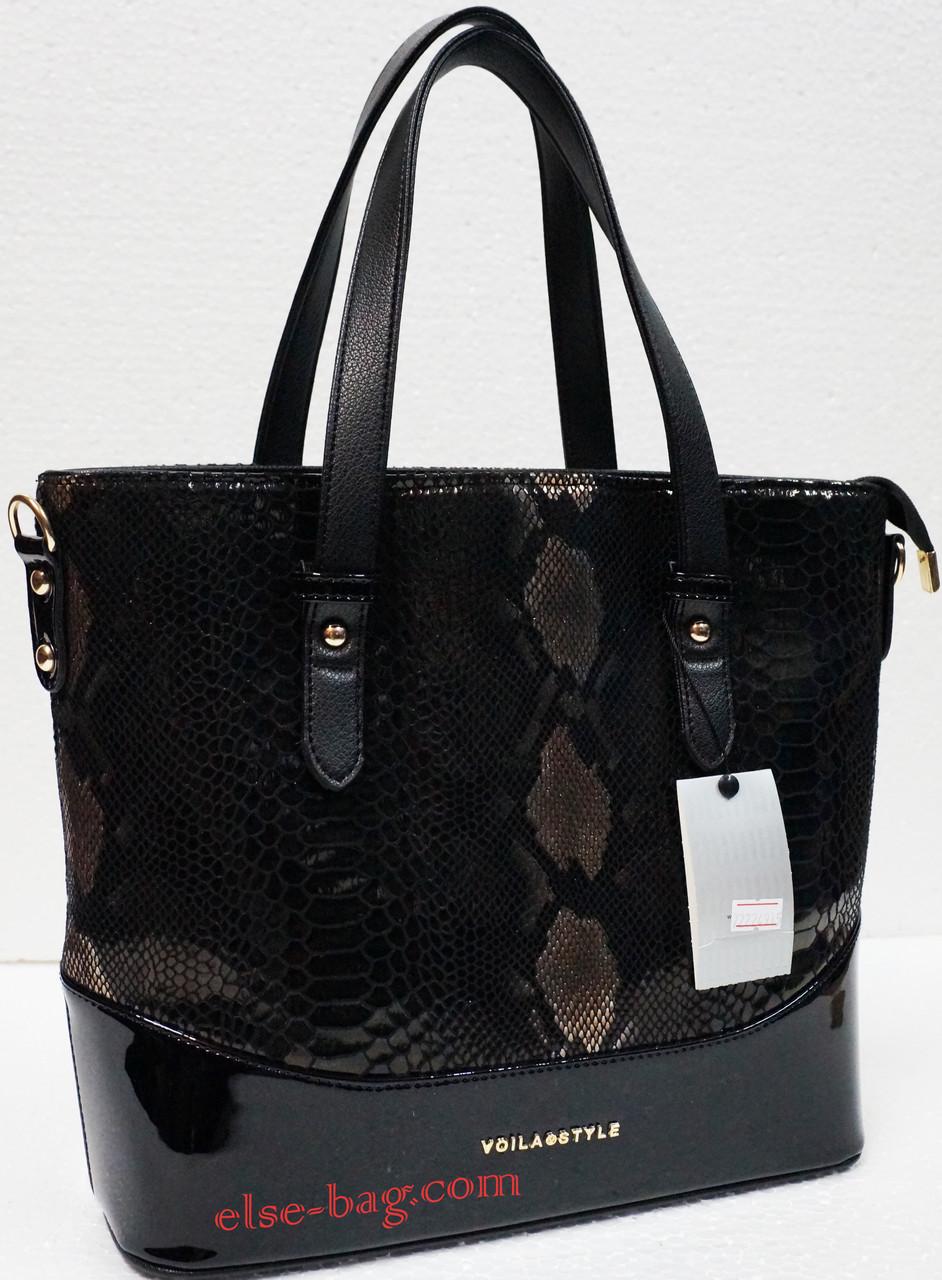 Черная сумка с лазерной вставкой