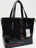 Черная сумка с лазерной вставкой, фото 1